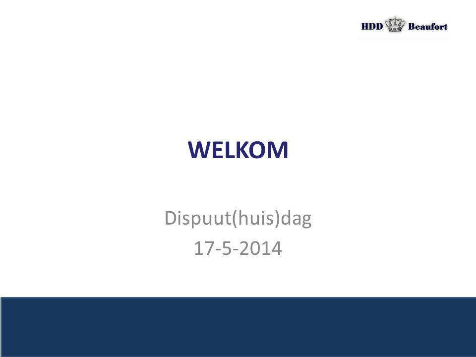 WELKOM Dispuut(huis)dag 17-5-2014