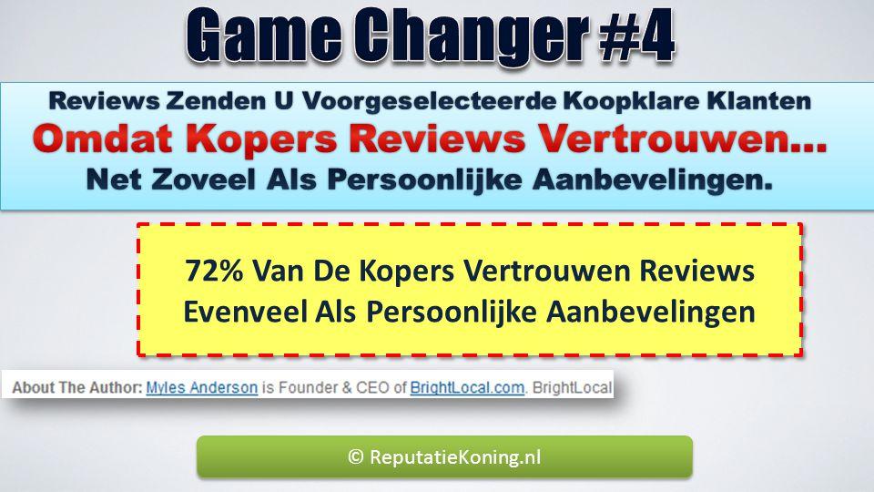 72% Van De Kopers Vertrouwen Reviews Evenveel Als Persoonlijke Aanbevelingen © ReputatieKoning.nl