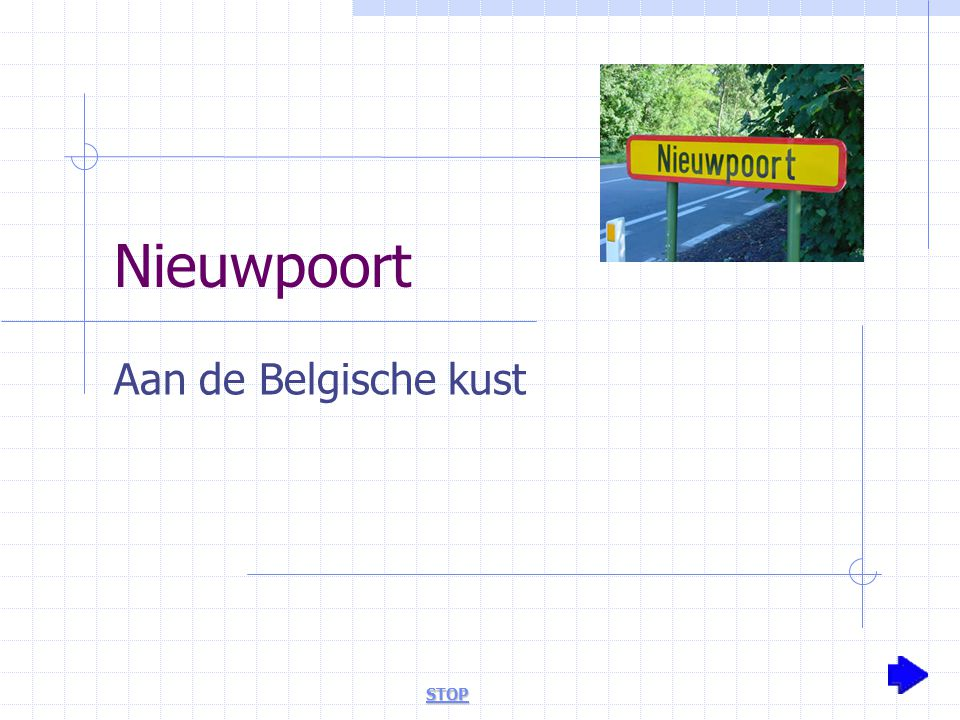 Nieuwpoort Aan de Belgische kust STOP