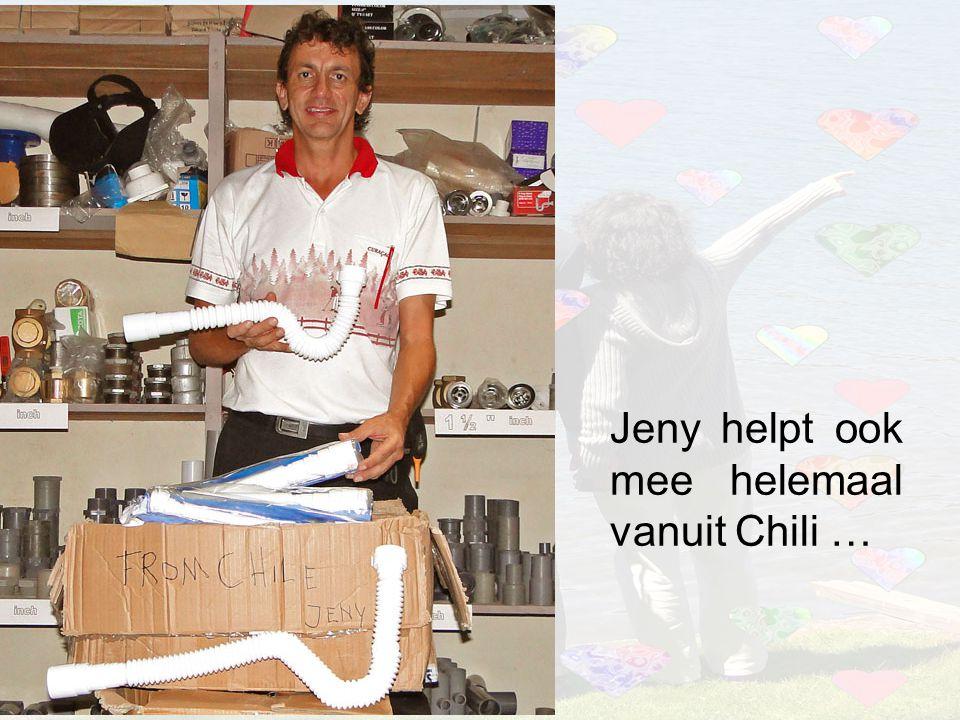 Jeny helpt ook mee helemaal vanuit Chili …
