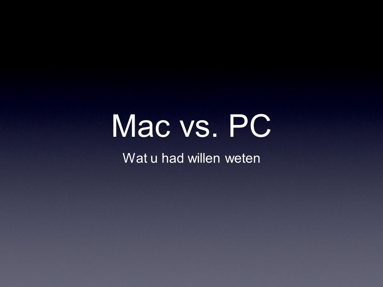 Mac vs. PC Wat u had willen weten