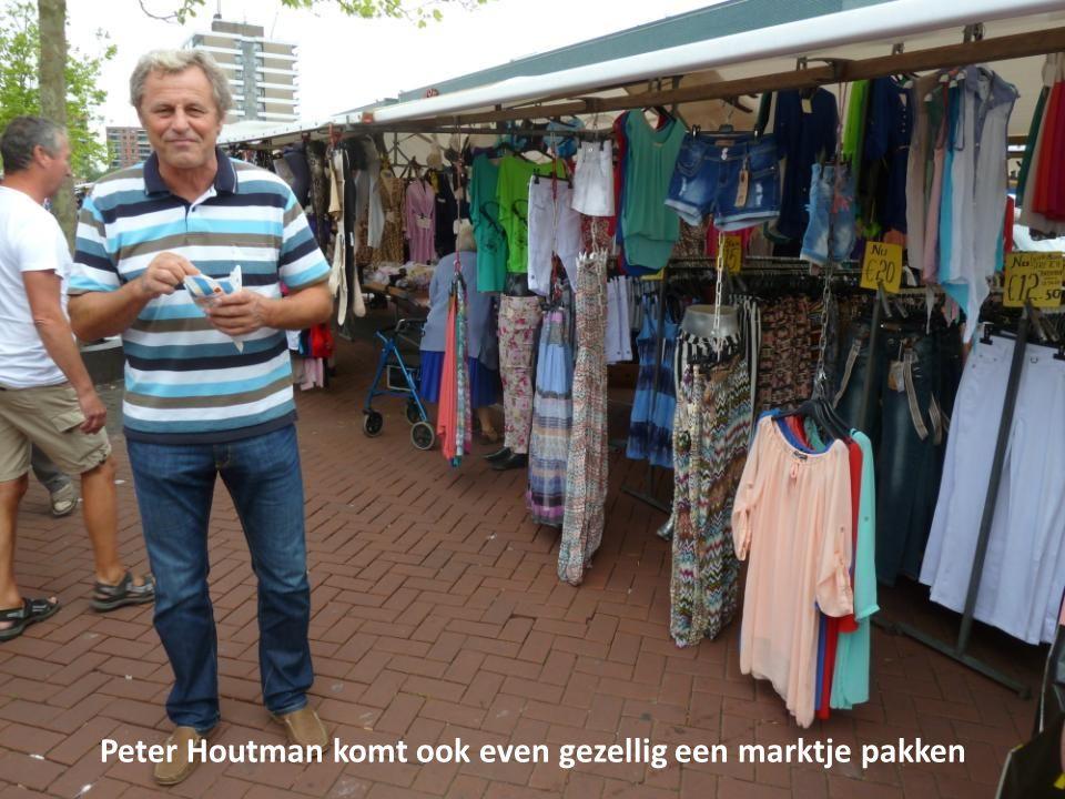 Peter Houtman komt ook even gezellig een marktje pakken