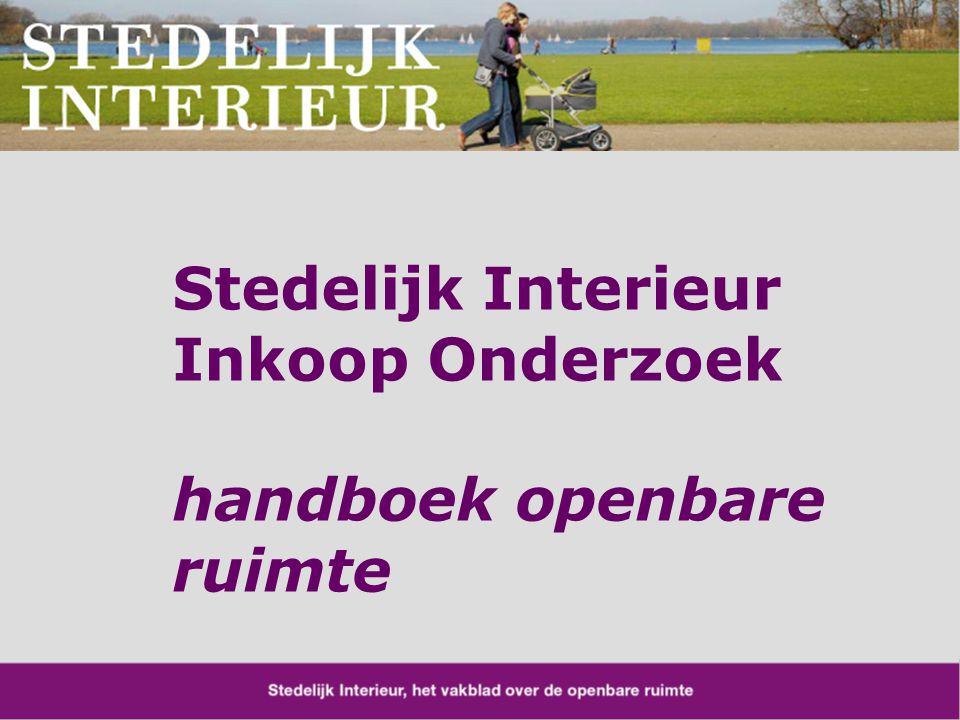 Stedelijk Interieur Inkoop Onderzoek handboek openbare ruimte