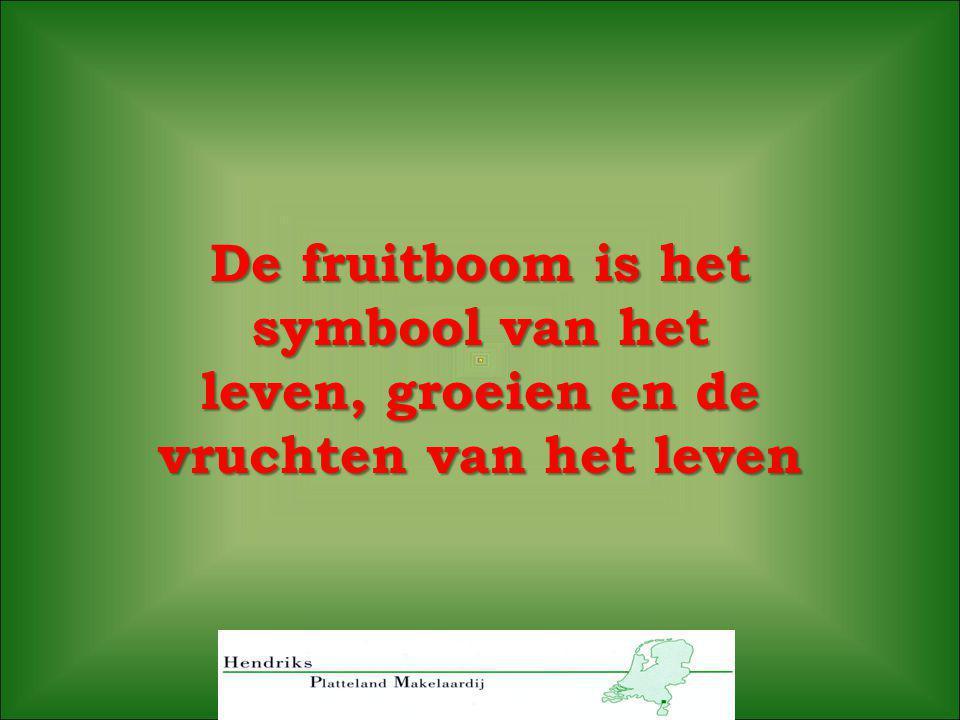 De fruitboom is het symbool van het leven, groeien en de vruchten van het leven