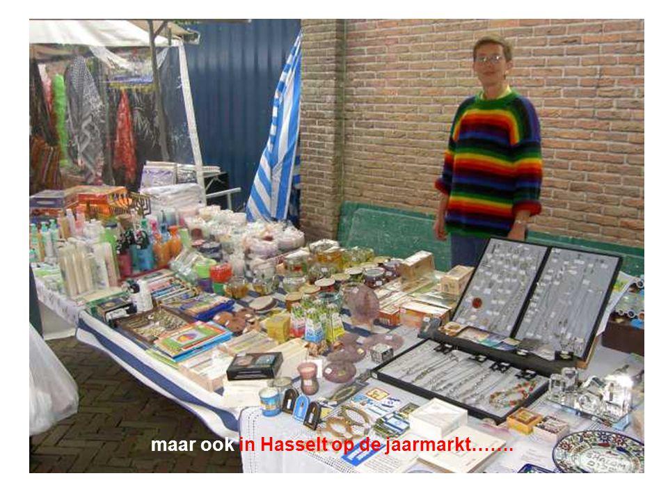 maar ook in Hasselt op de jaarmarkt…….
