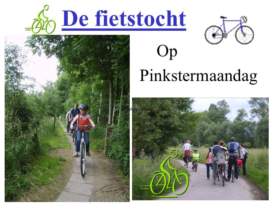 Op Pinkstermaandag De fietstocht