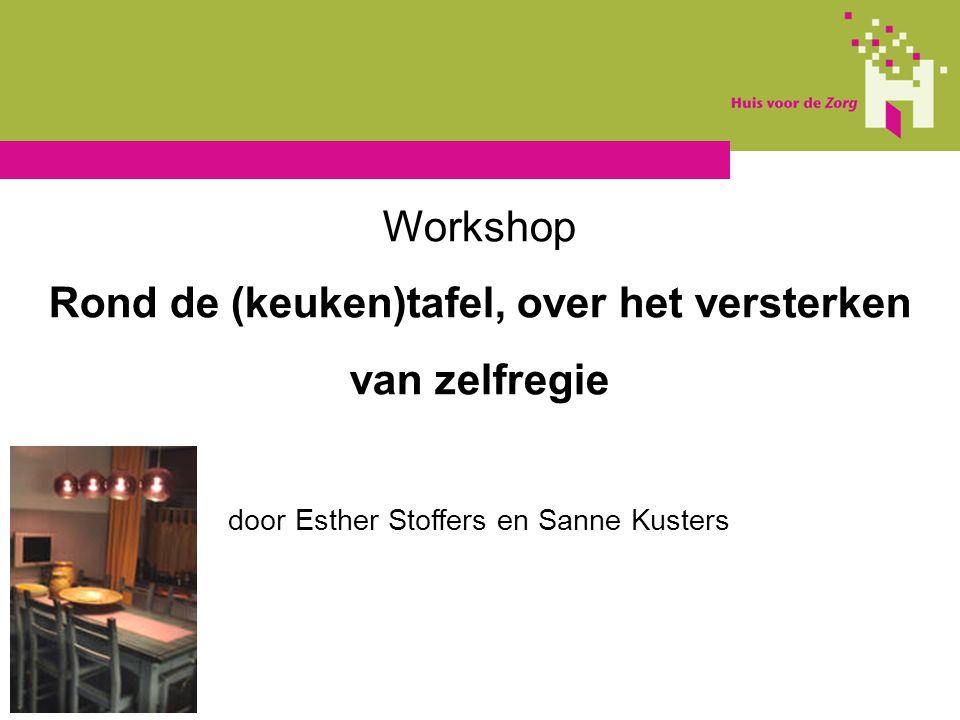Workshop Rond de (keuken)tafel, over het versterken van zelfregie door Esther Stoffers en Sanne Kusters