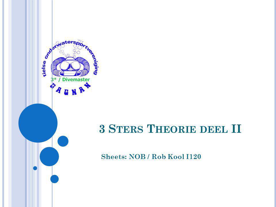 3 S TERS T HEORIE DEEL II Sheets: NOB / Rob Kool I120