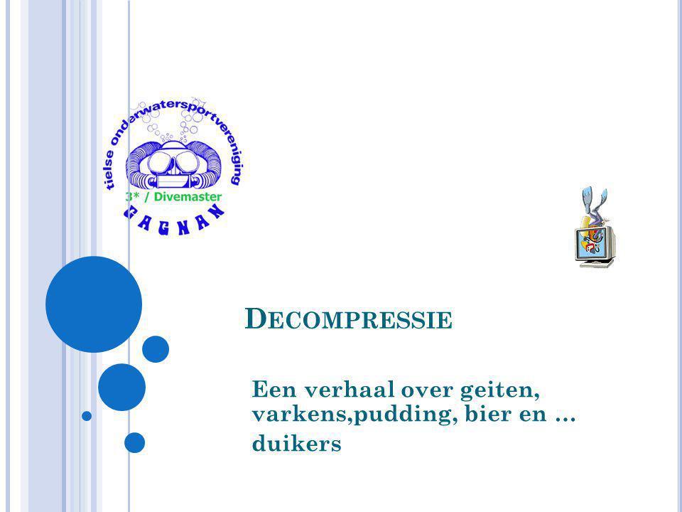 G ROEI VAN G ASBEL 54 Gagnan 3*/Divemaster 2010 P bel = 2.5 bar P omg = 3 bar