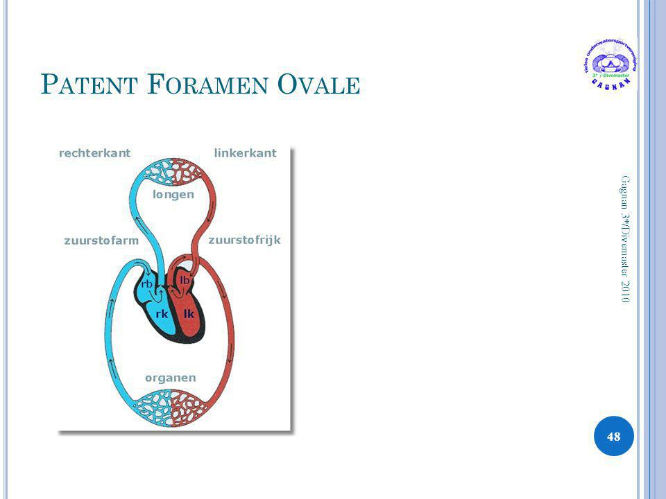 P ATENT F ORAMEN O VALE 48 Gagnan 3*/Divemaster 2010