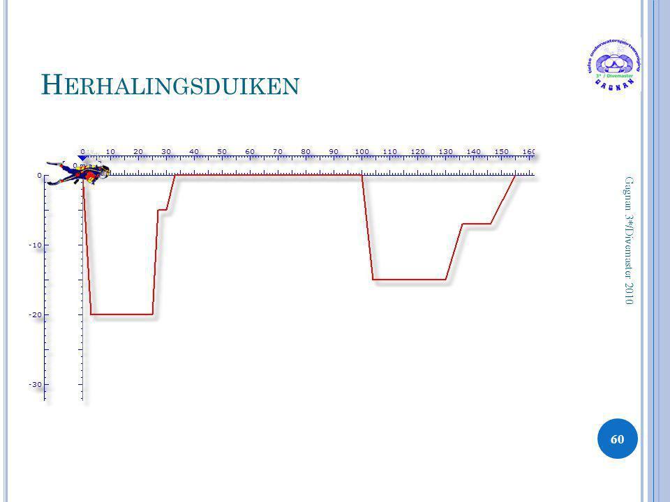 H ERHALINGSDUIKEN 60 Gagnan 3*/Divemaster 2010
