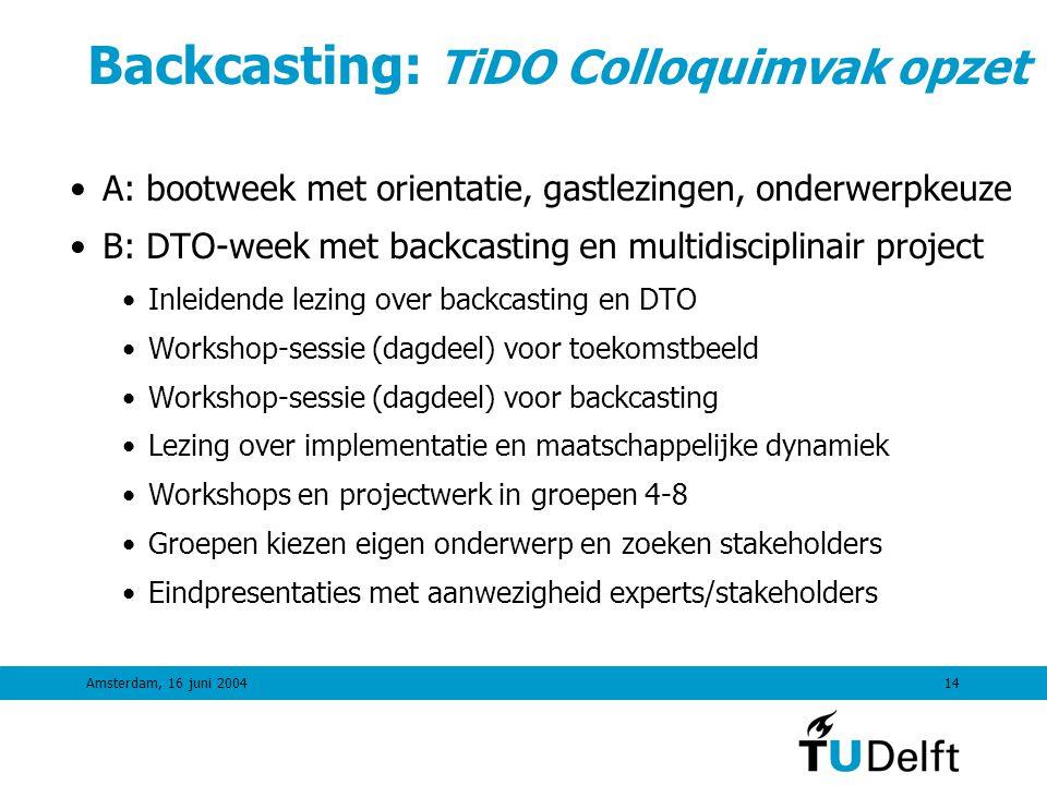 Amsterdam, 16 juni 200413 Assessment resultaten