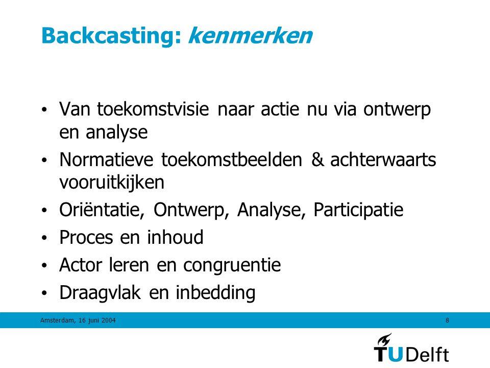 Amsterdam, 16 juni 20047 Waarom Backcasting.