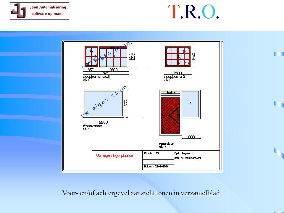 T.R.O. tekenblad voorgevel Voor- en/of achtergevel aanzicht tonen in verzamelblad