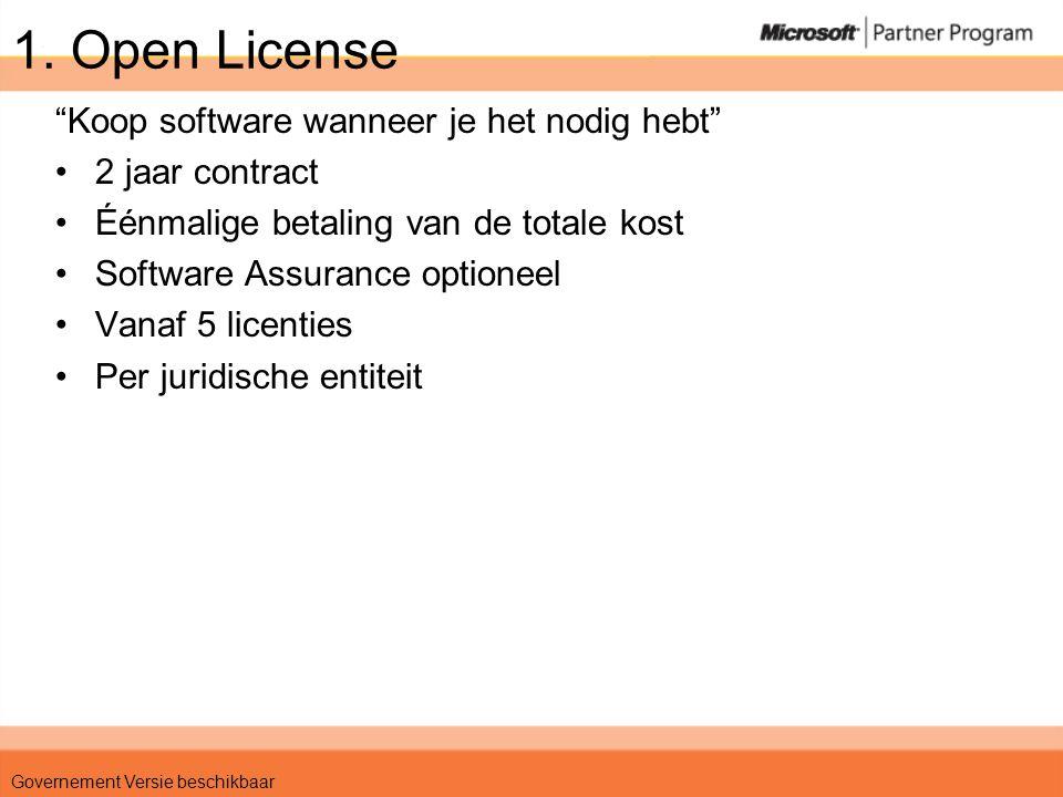 Scenario 2 •KMO – 60 PCs •Windows, Office, Core CAL