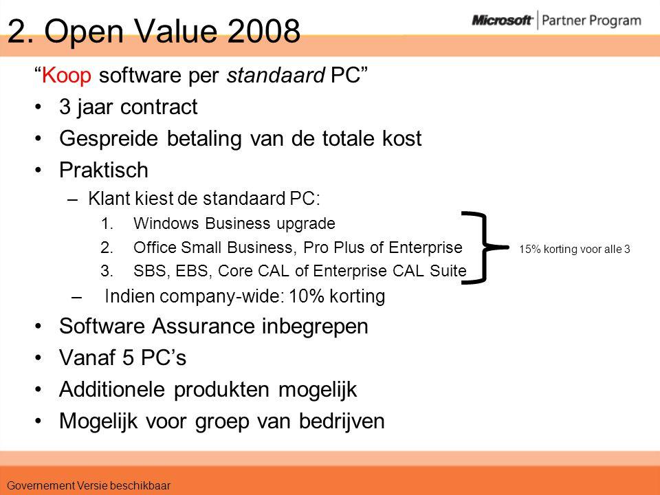 Scenario 1 •KMO – 150 PCs •Windows, Office, EBS