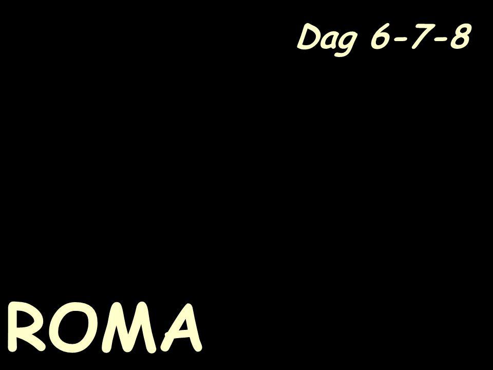 Dag 6-7-8 ROMA