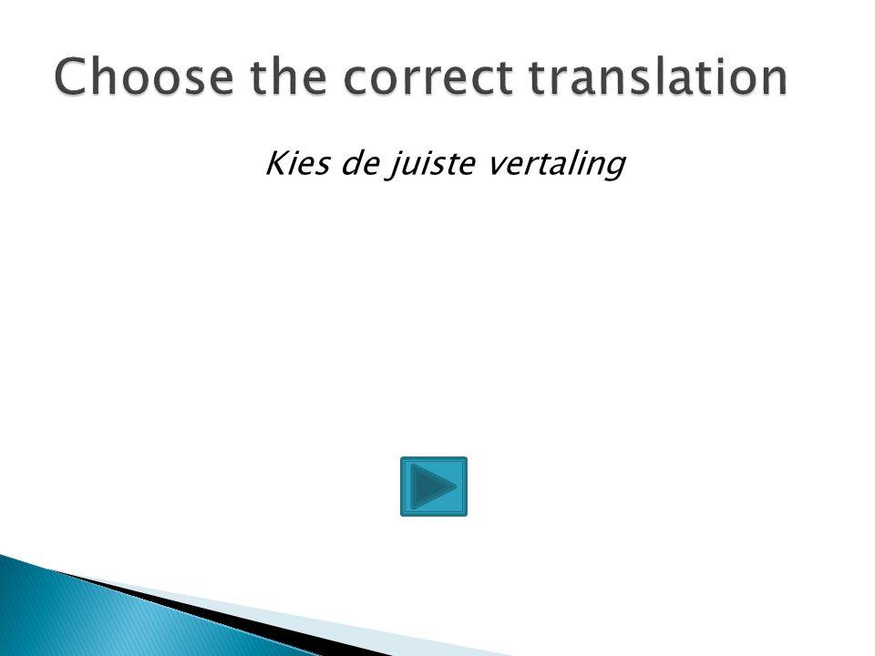 Kies de juiste vertaling