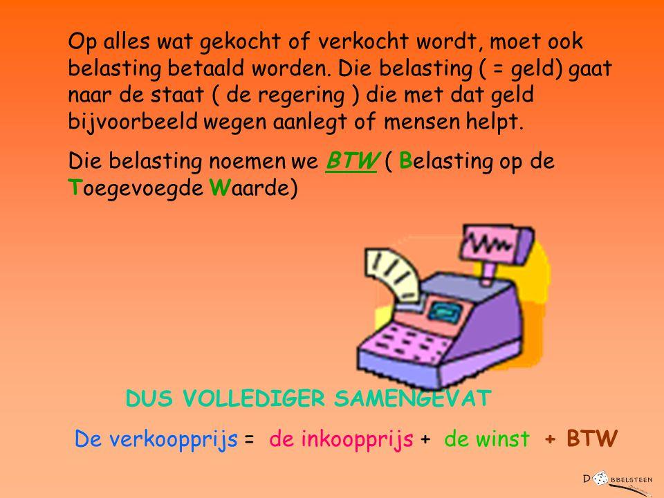 Een handelaar heeft ook uitgaven.