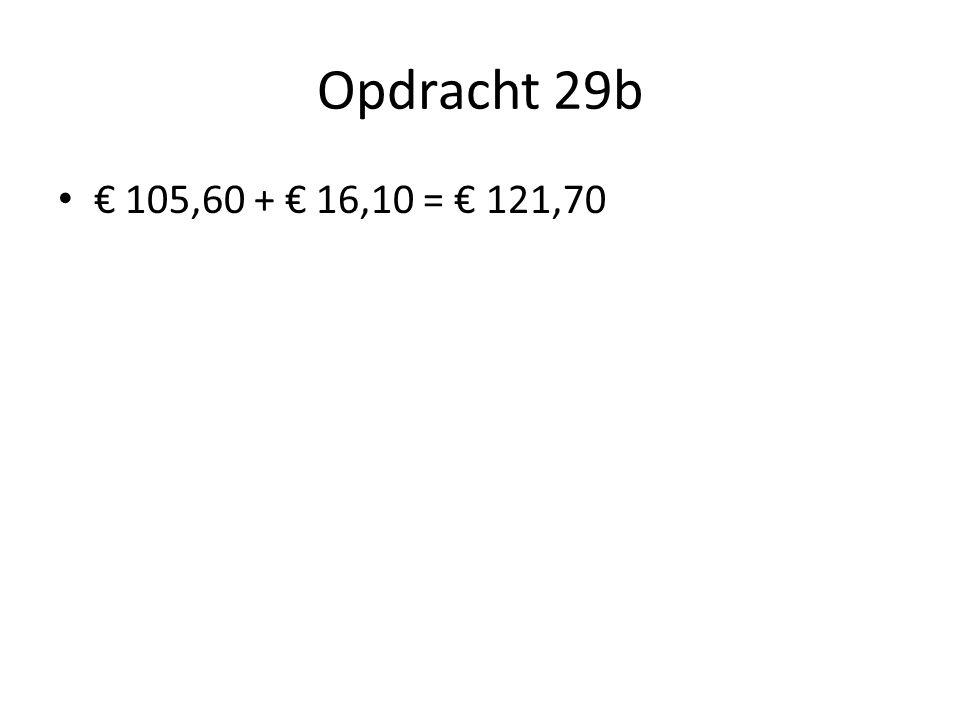 Opdracht 29b • € 105,60 + € 16,10 = € 121,70