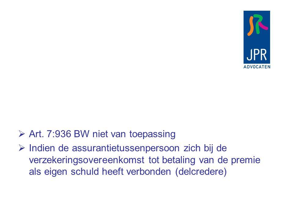  Rechtbank Arnhem 6 juni 2007 JOR 2008/20  Assurantietussenpersoon schiet premie voor, verzekeringnemer failleert  Curator zegt verzekeringen op en vordert dat premierestitutie op boedelrekening wordt gestort.