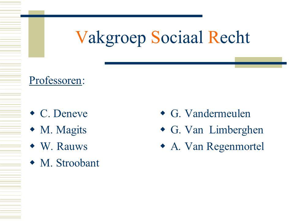 Professoren:  C. Deneve  M. Magits  W. Rauws  M. Stroobant  G. Vandermeulen  G. Van Limberghen  A. Van Regenmortel