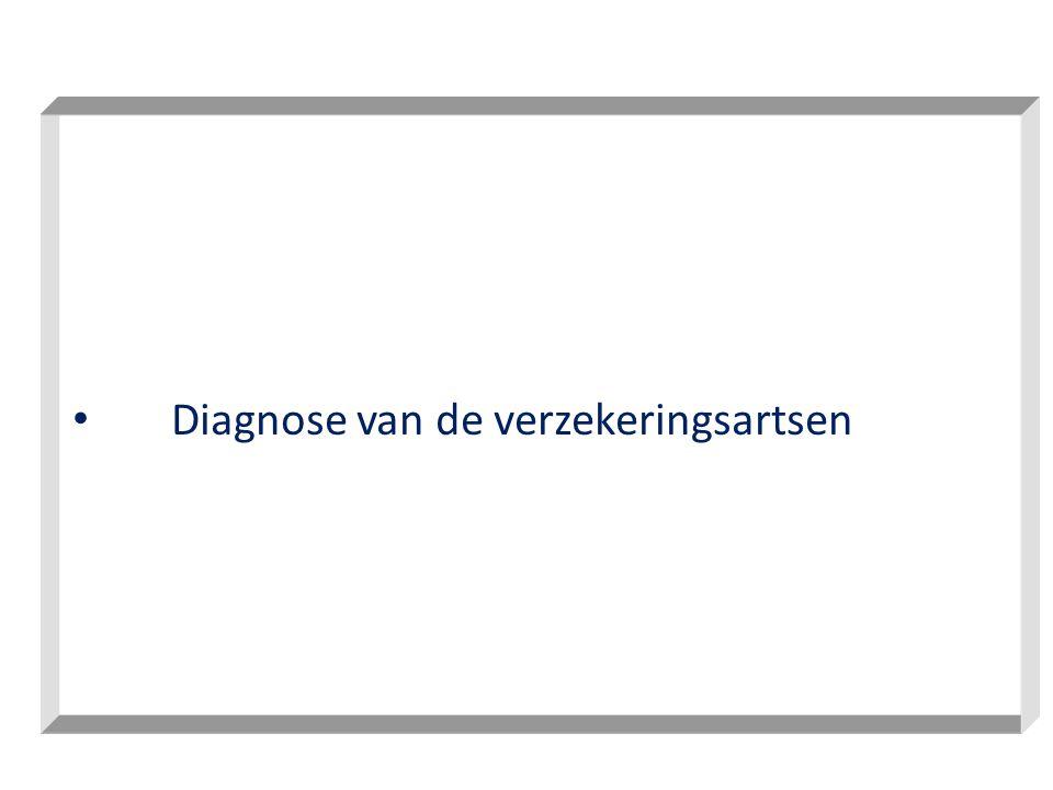 • Diagnose van de verzekeringsartsen