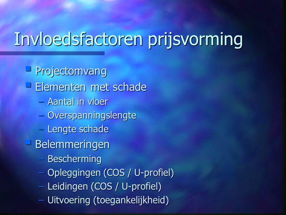 Herstelmethoden ECO  Zijn volledig goedgekeurd op basis van de richtlijnen en normen  Voldoen ruimschoots aan de daarin gestelde prestatie-eisen  Zijn economisch aantrekkelijk  Zijn 100% verzekerd gegarandeerd voor 20 jaar door Nederlandse verzekeringsmaatschappij