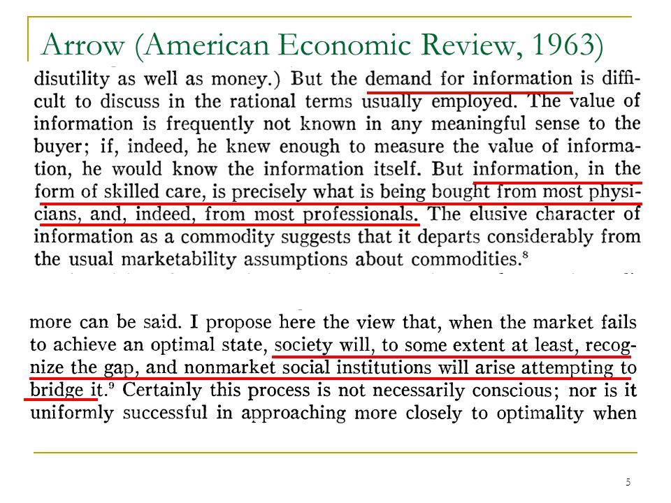 5 Arrow (American Economic Review, 1963)