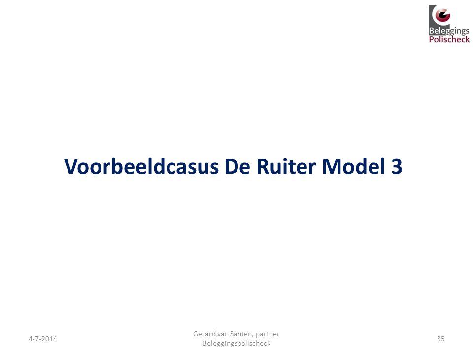 Voorbeeldcasus De Ruiter Model 3 4-7-2014 Gerard van Santen, partner Beleggingspolischeck 35