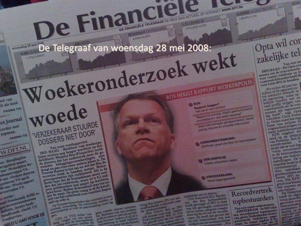 De Telegraaf van woensdag 28 mei 2008: