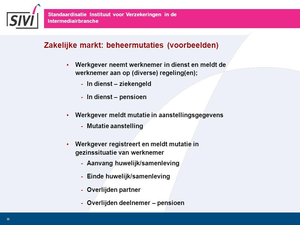 Standaardisatie Instituut voor Verzekeringen in de Intermediairbranche 22 • Werkgever neemt werknemer in dienst en meldt de werknemer aan op (diverse)