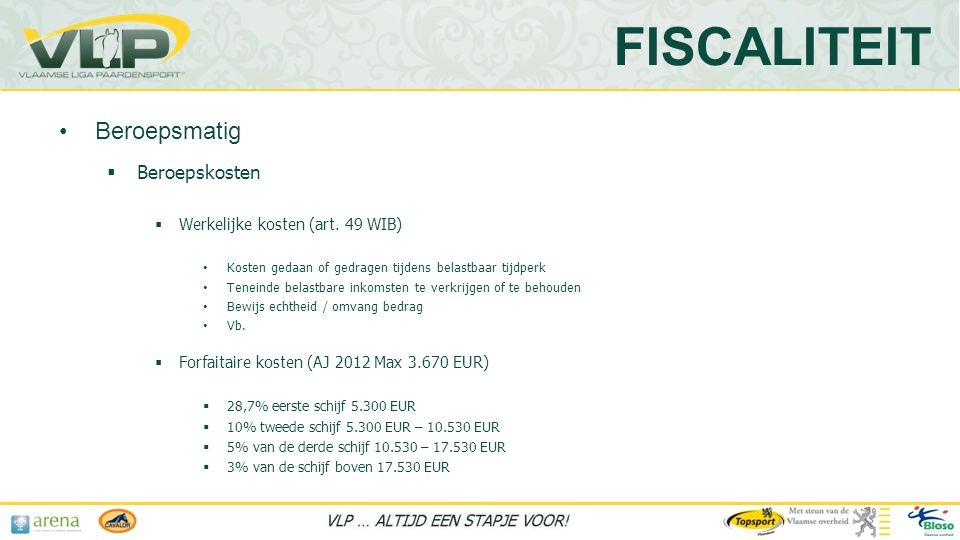  Beroepskosten  Werkelijke kosten (art.