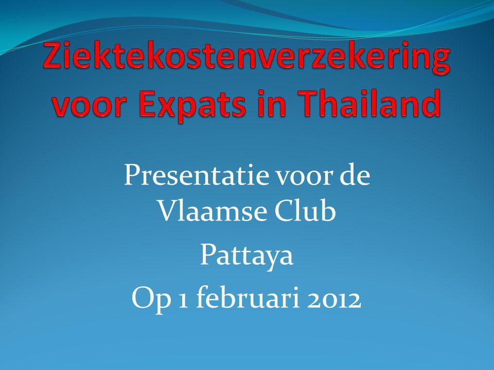 Presentatie voor de Vlaamse Club Pattaya Op 1 februari 2012