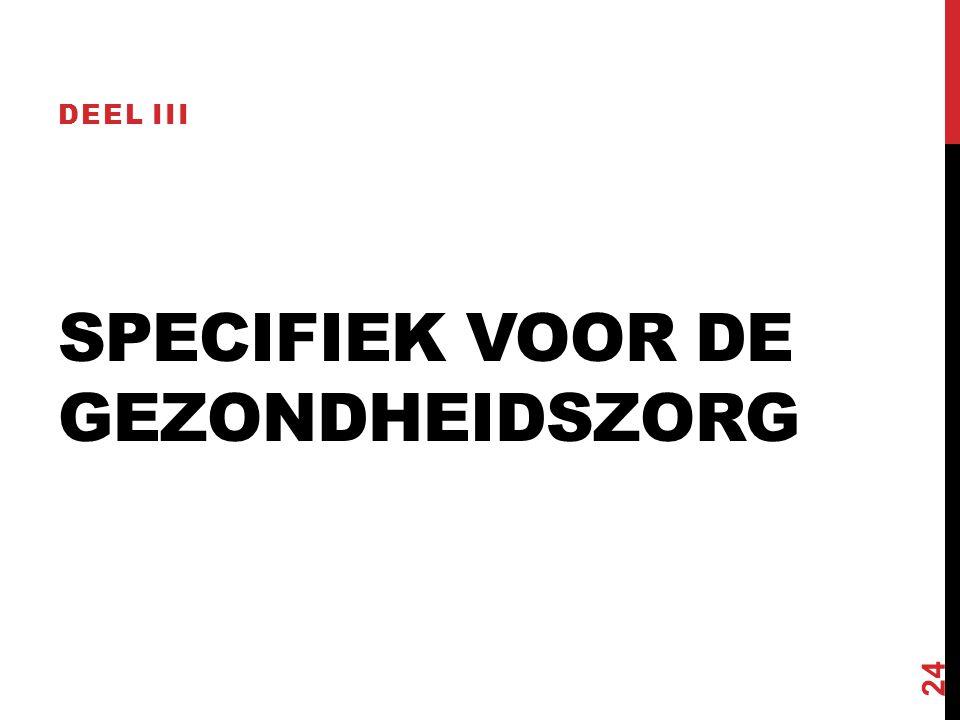 SPECIFIEK VOOR DE GEZONDHEIDSZORG DEEL III 24