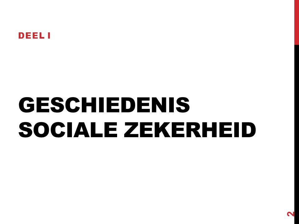 GESCHIEDENIS SOCIALE ZEKERHEID DEEL I 2