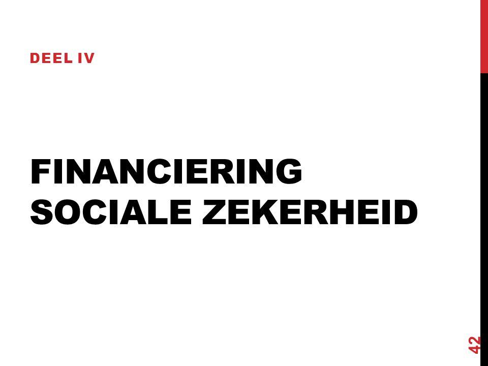 FINANCIERING SOCIALE ZEKERHEID DEEL IV 42