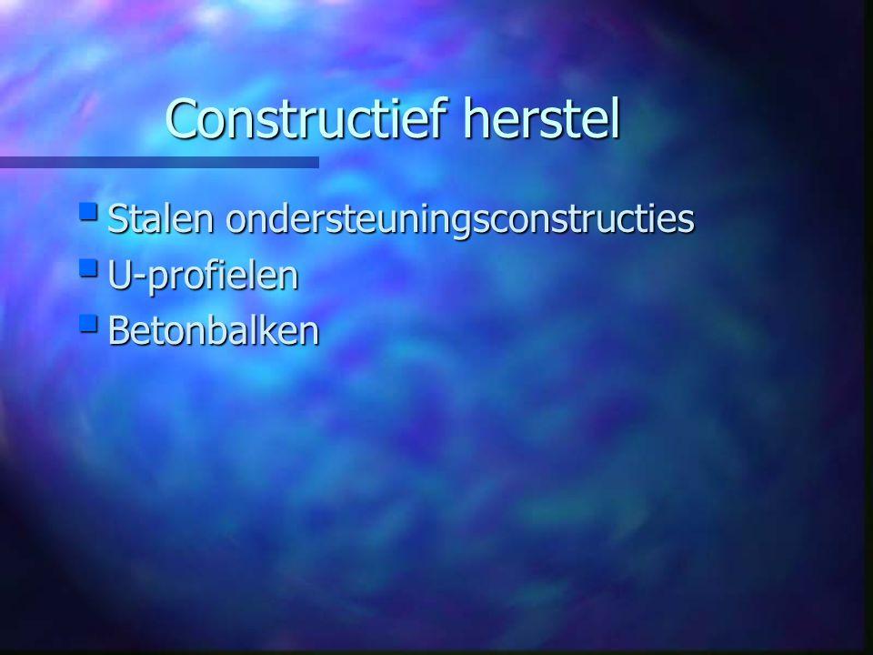 Constructief herstel  Stalen ondersteuningsconstructies  U-profielen  Betonbalken