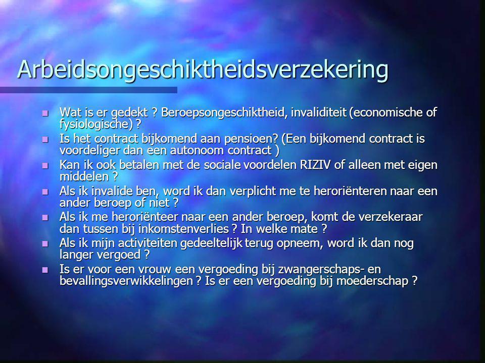 Arbeidsongeschiktheidsverzekering  Wat is er gedekt .