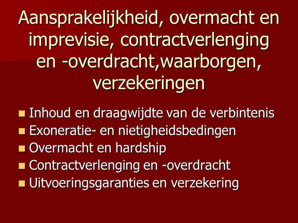 OVERMACHTSBEDING - VOORBEELD  For the purposes of this Agreement, « Force Majeure » is defined as any event the occurrence of which is beyond the reasonable control of a Party including, without limitation, Acts of God, natural catastrophes, wars, disorders, labour disputes, the act or omission of any third Party for which the Party is not responsible.