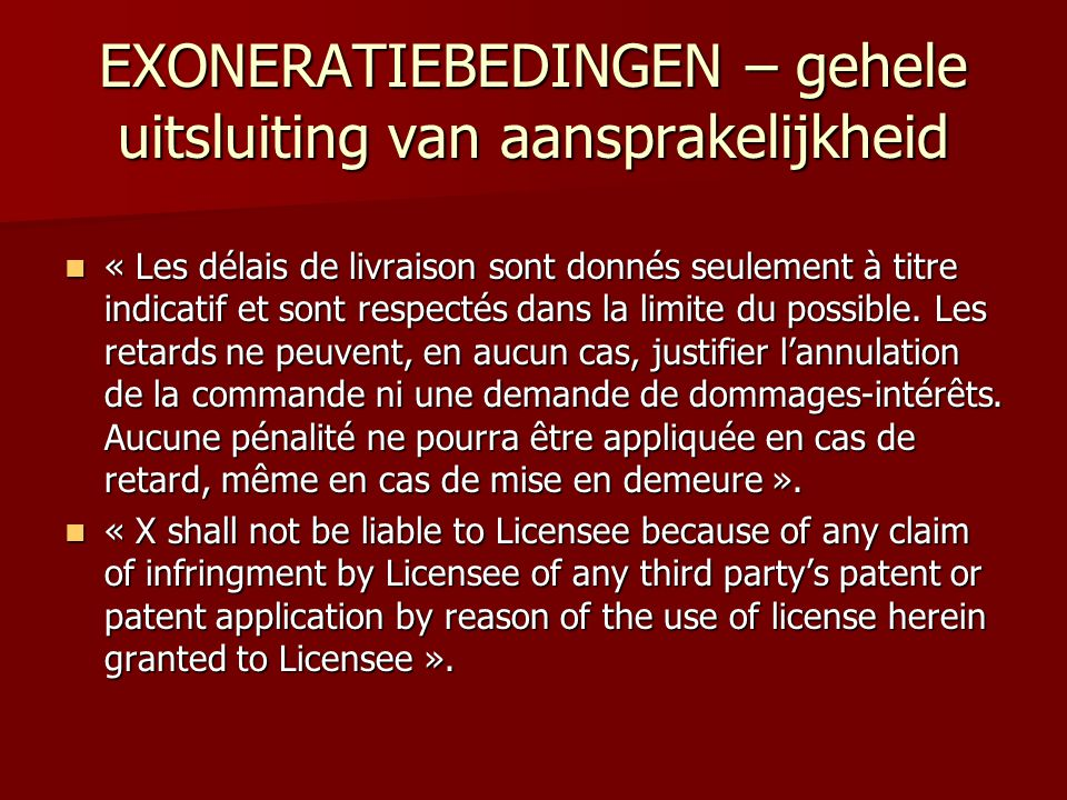 CONTRACTVERLENGING  Voorbeeld: « At the end of the five year term referred to in clause 1., either Party may extend the term of this Agreement by successive periods of 1 year by giving not less than 6 months prior written notice to the other Party, up to a maximum of a further 5 years »