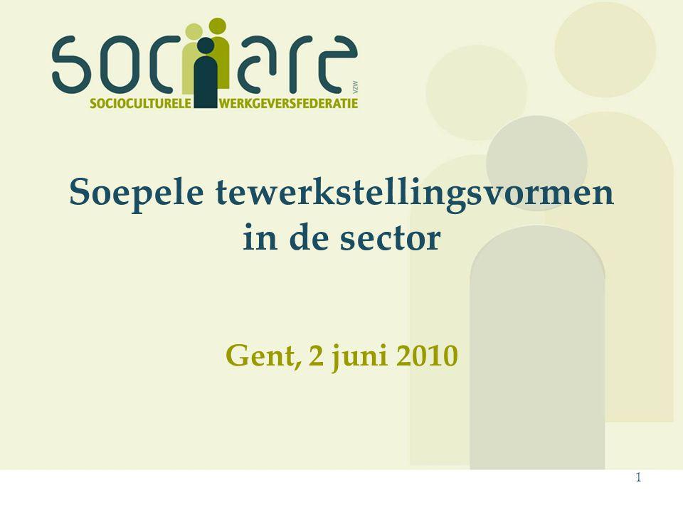 1 Soepele tewerkstellingsvormen in de sector Gent, 2 juni 2010