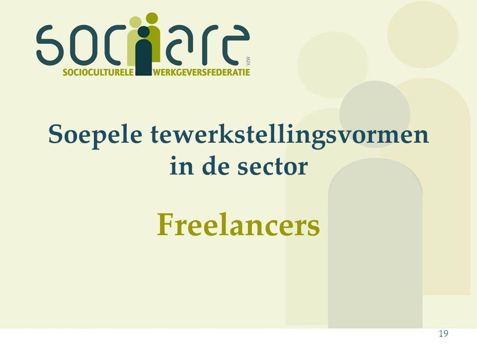 19 Soepele tewerkstellingsvormen in de sector Freelancers