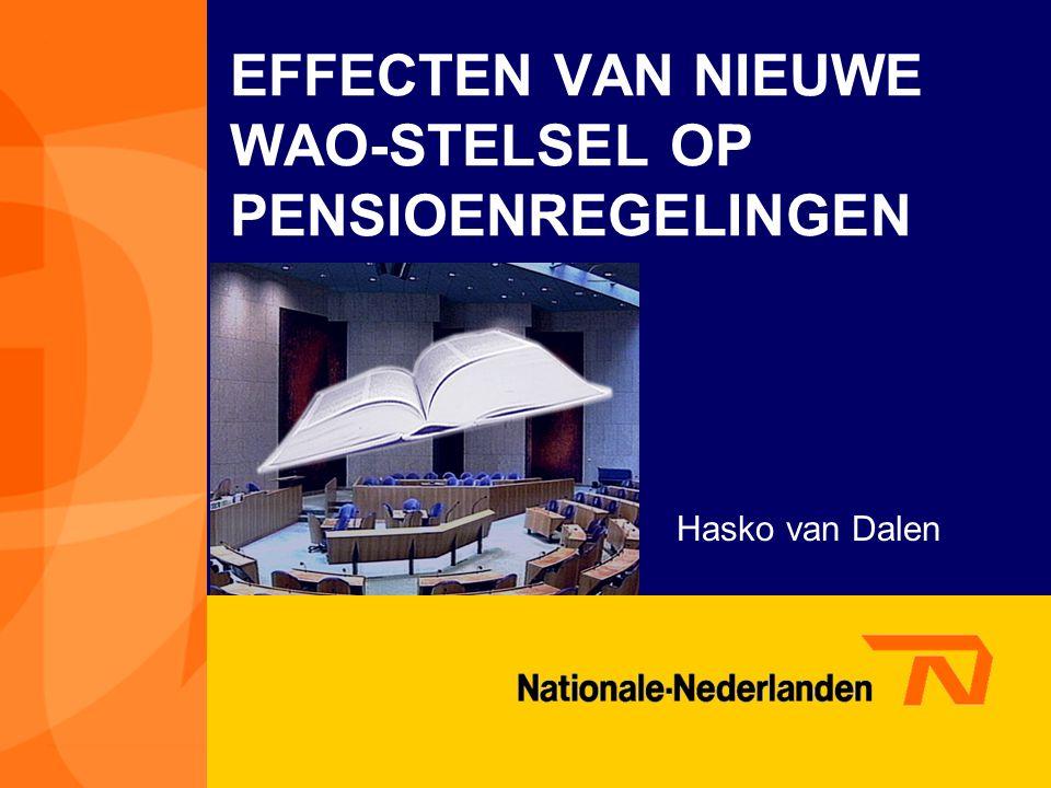 EFFECTEN VAN NIEUWE WAO-STELSEL OP PENSIOENREGELINGEN Hasko van Dalen