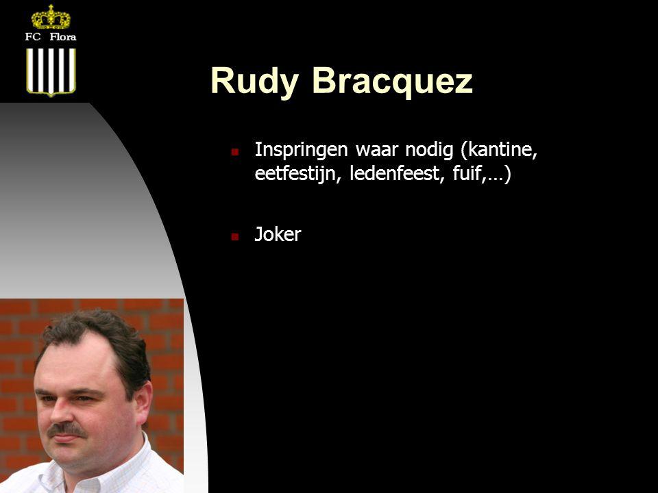 04-09-09 Rudy Bracquez  Inspringen waar nodig (kantine, eetfestijn, ledenfeest, fuif,…)  Joker