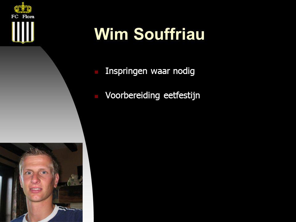 22-08-08 Wim Souffriau  Inspringen waar nodig  Voorbereiding eetfestijn