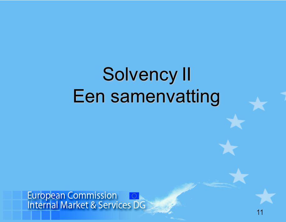 11 Solvency II Een samenvatting
