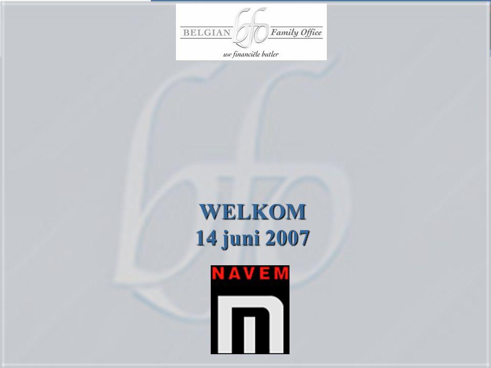 WELKOM 14 juni 2007