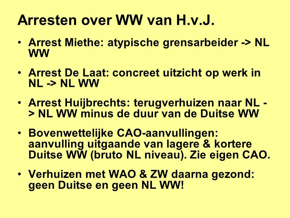 Arresten over WW van H.v.J.