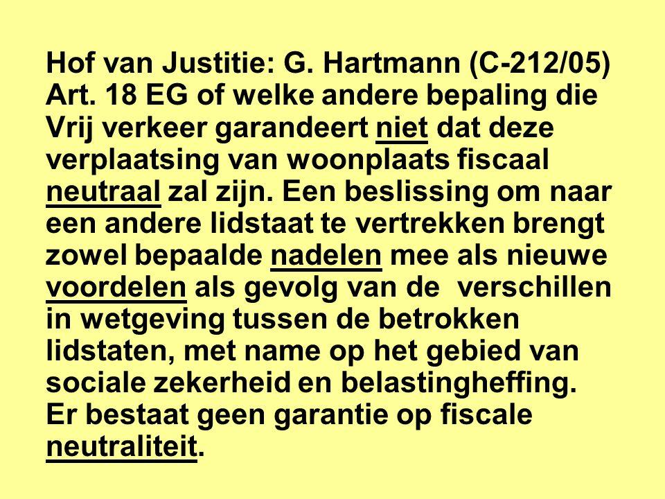 Hof van Justitie: G.Hartmann (C-212/05) Art.